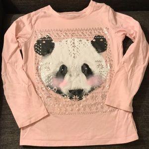 Children's place snow panda shirt size 5/6 EUC